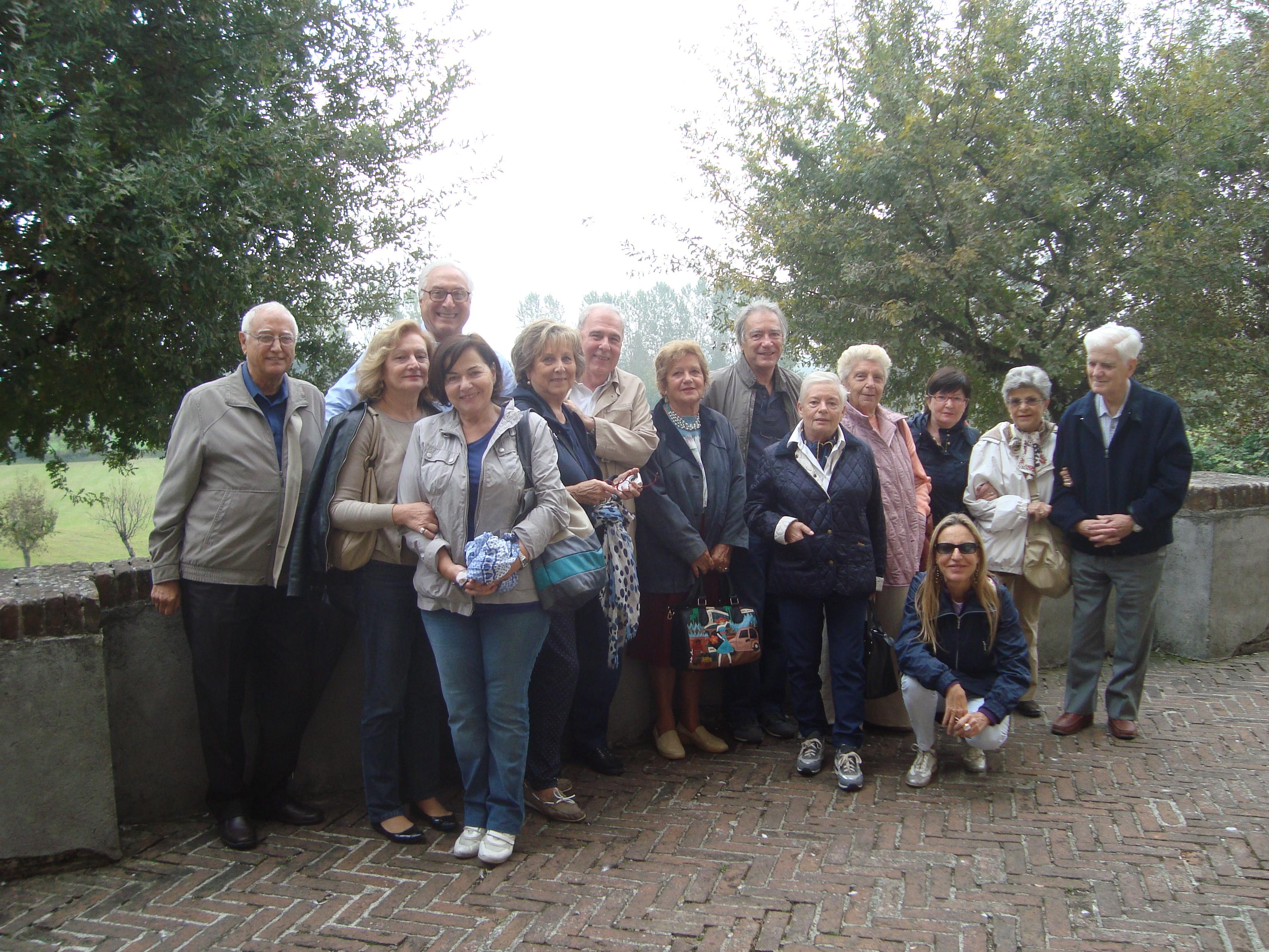 Il gruppo all'arrivo a Soncino